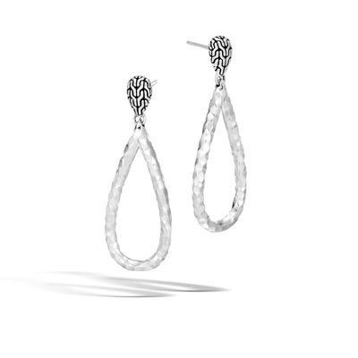 John Hardy Classic Chain Hammered Drop Earrings