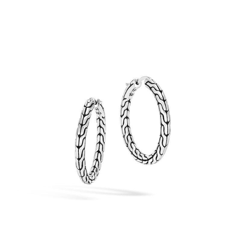 John Hardy Classic Chain Medium Hoop Earrings