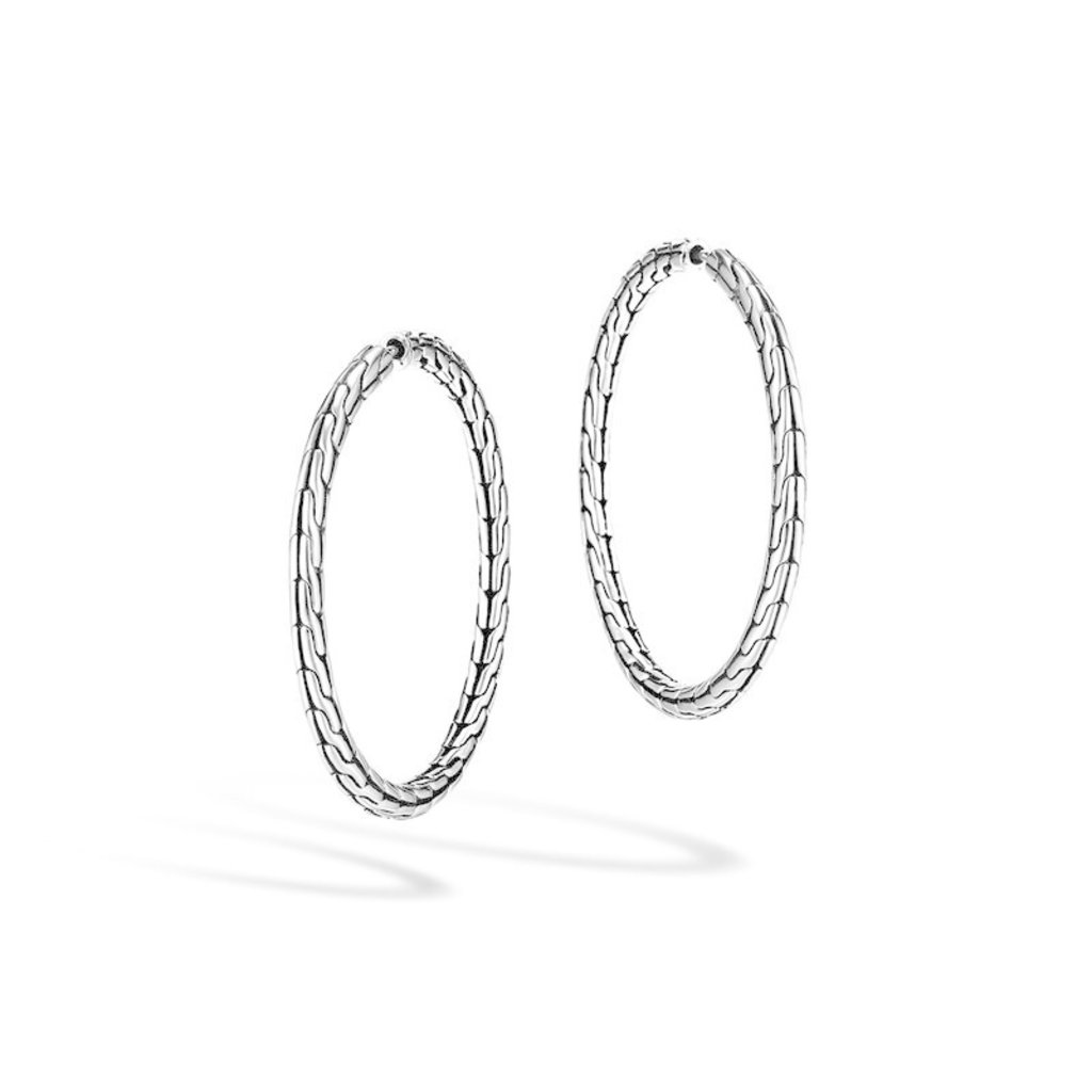 John Hardy Classic Chain Medium Hoop Earring