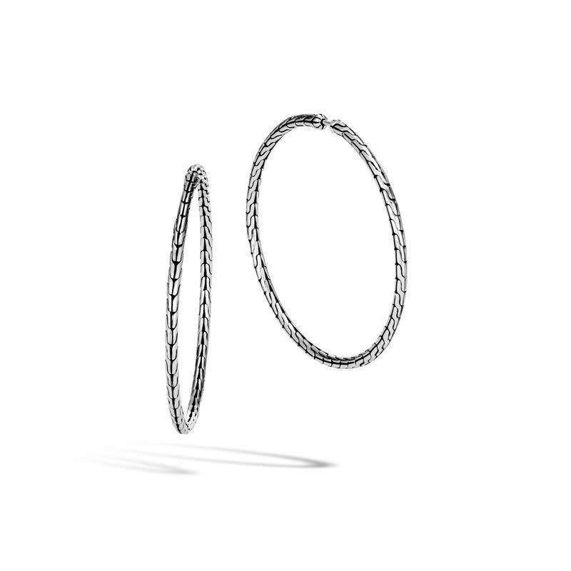 John Hardy Classic Chain Silver Large Hoops