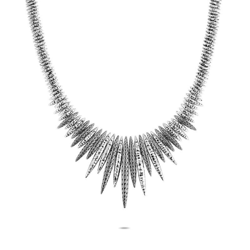John Hardy Classic Chain Spear Hammered Bib Necklace