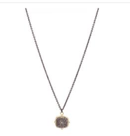 "Armenta Cushion Pave Necklace 18"""