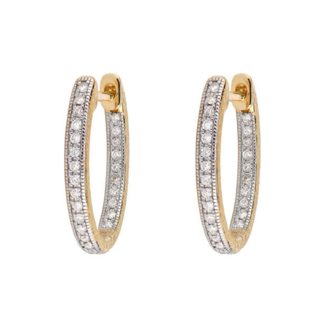 Jude Frances Delicate Small Oval Hoop Earring