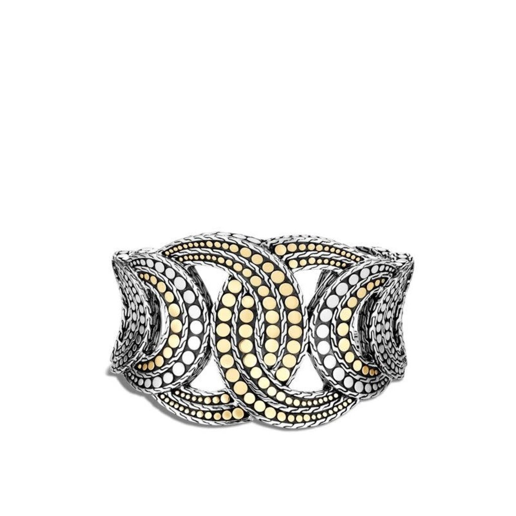 John Hardy Dot 43MM Cuff in Silver and 18K Gold