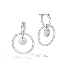 John Hardy Dot Drop Hammered Interlink Earring