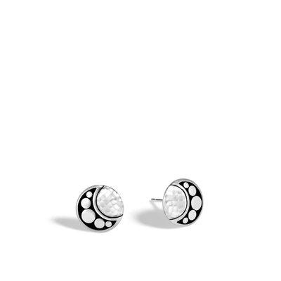 John Hardy Dot Moon Phase Hammered Stud Earring
