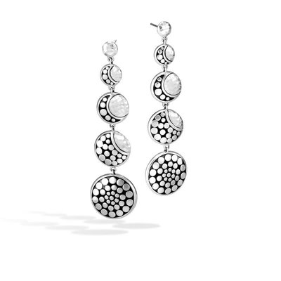 John Hardy Dot Moon Phase Drop Hammered Earring
