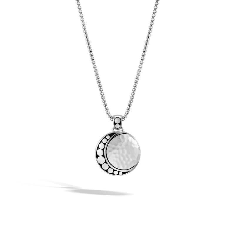 John Hardy Dot Moon Phase Pendant Necklace
