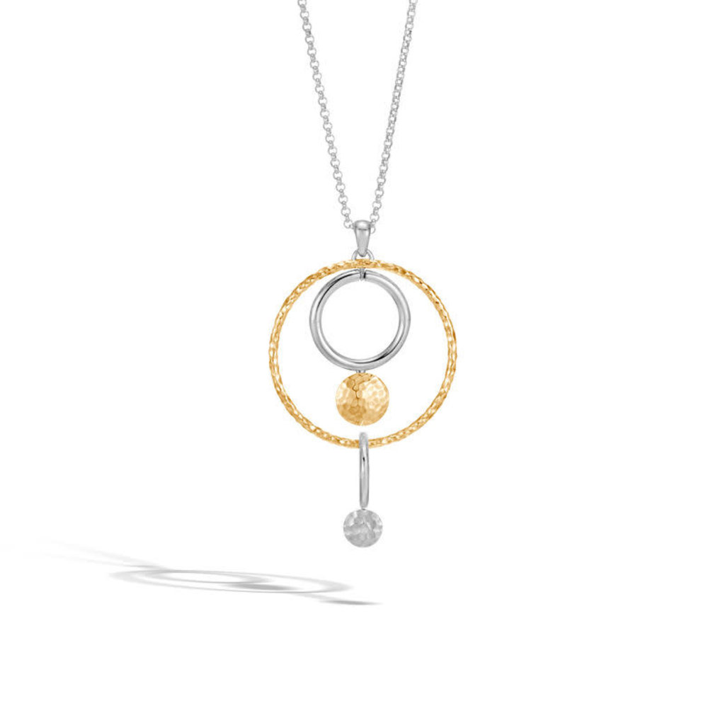John Hardy Dot Pendant Necklace in Silver and 18K Gold