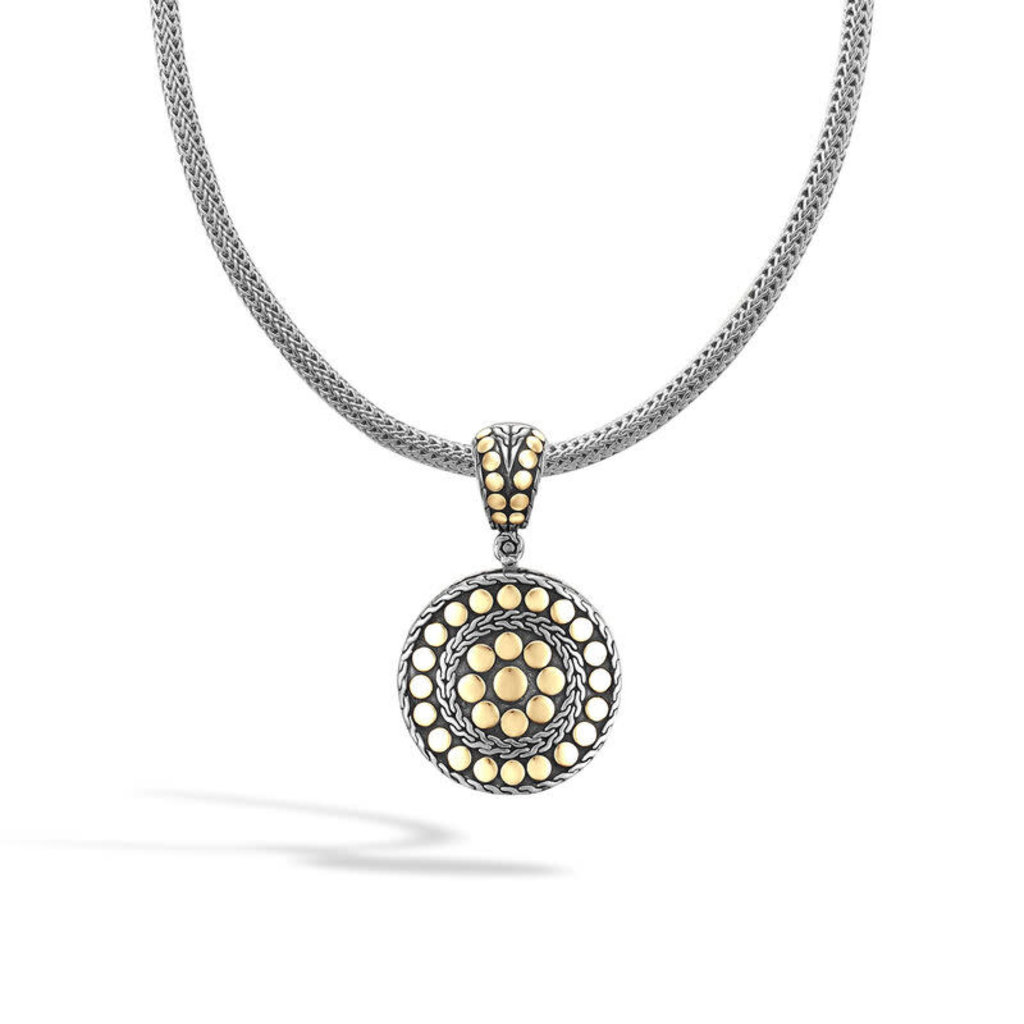 John Hardy Dot Small Round Enhancer in Silver and 18K Gold