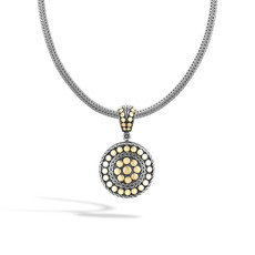 John Hardy Dot Small Round Enhancer Pendant  in Silver and 18K Gold