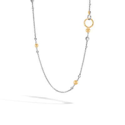 John Hardy Dot Station Hammered Necklace