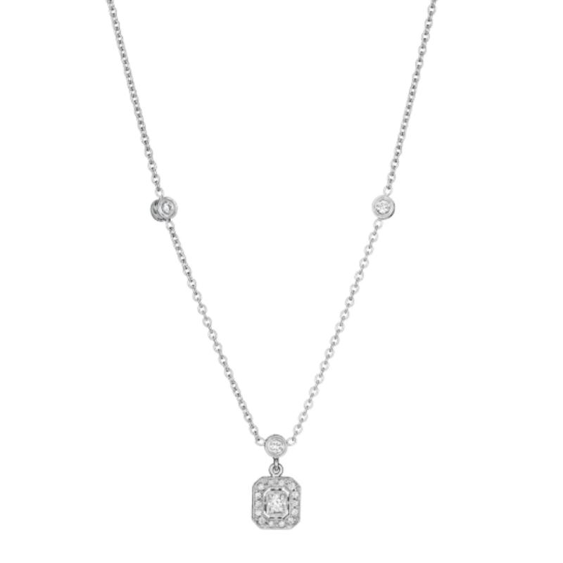 Penny Preville Emerald Shape Drop Necklace