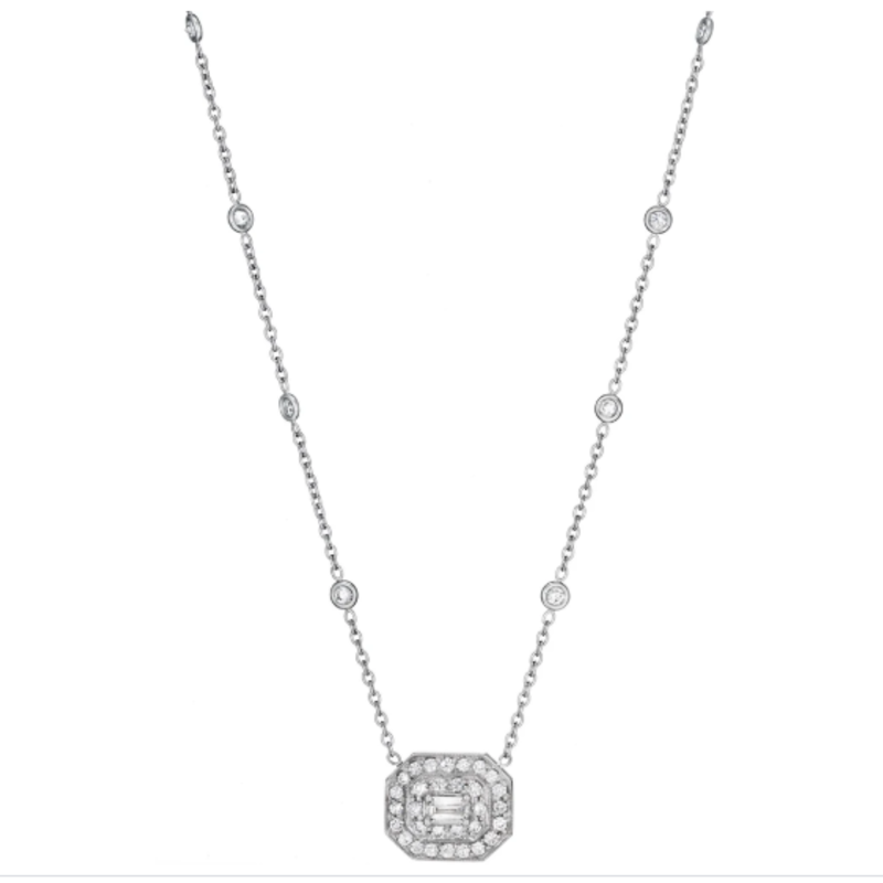 Penny Preville Emerald-Cut Art Deco Necklace