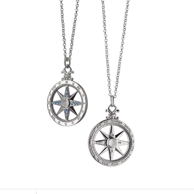 Monica Rich Global Compass Charm Necklace