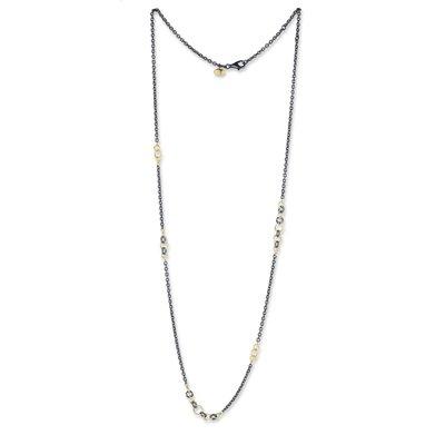 Lika Behar Collection Gold & Oxidized Silver Bubbles Necklace