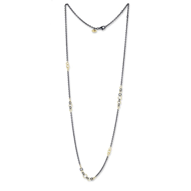 Lika Behar Collection Gold & Oxidized Silver Bubbles Necklace