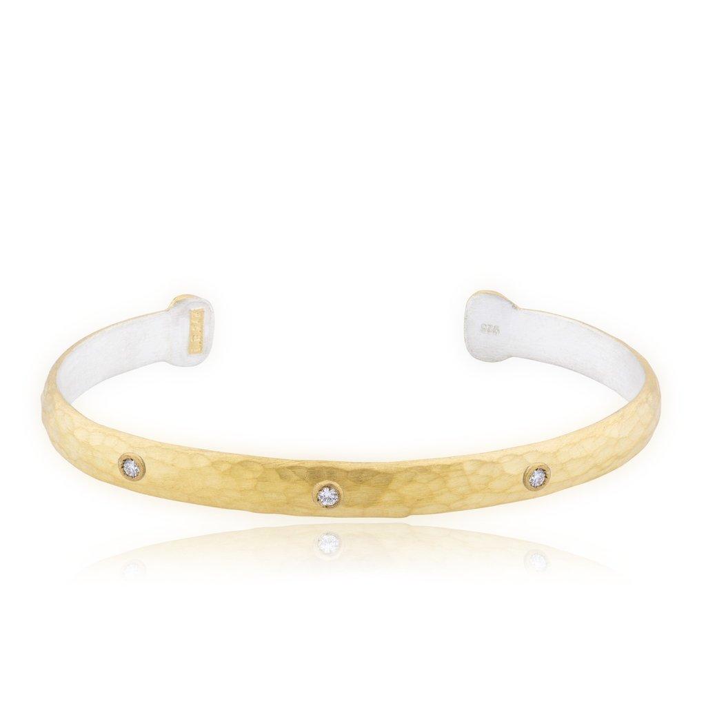 Lika Behar Collection Gold Cuff Bracelet With Diamonds