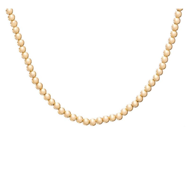 "enewton designs llc 15"" Choker Classic 3mm Bead Necklace Gold"