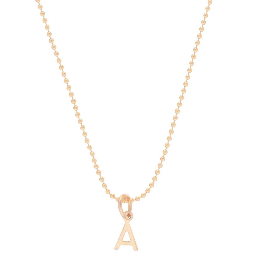 "enewton designs llc 16"" Gold Respect Charm Necklace ""E"""