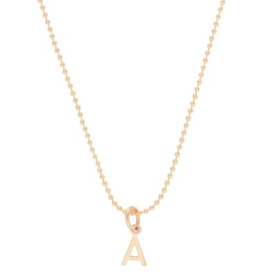 "enewton designs llc 16"" Gold Respect Charm Necklace ""E"""