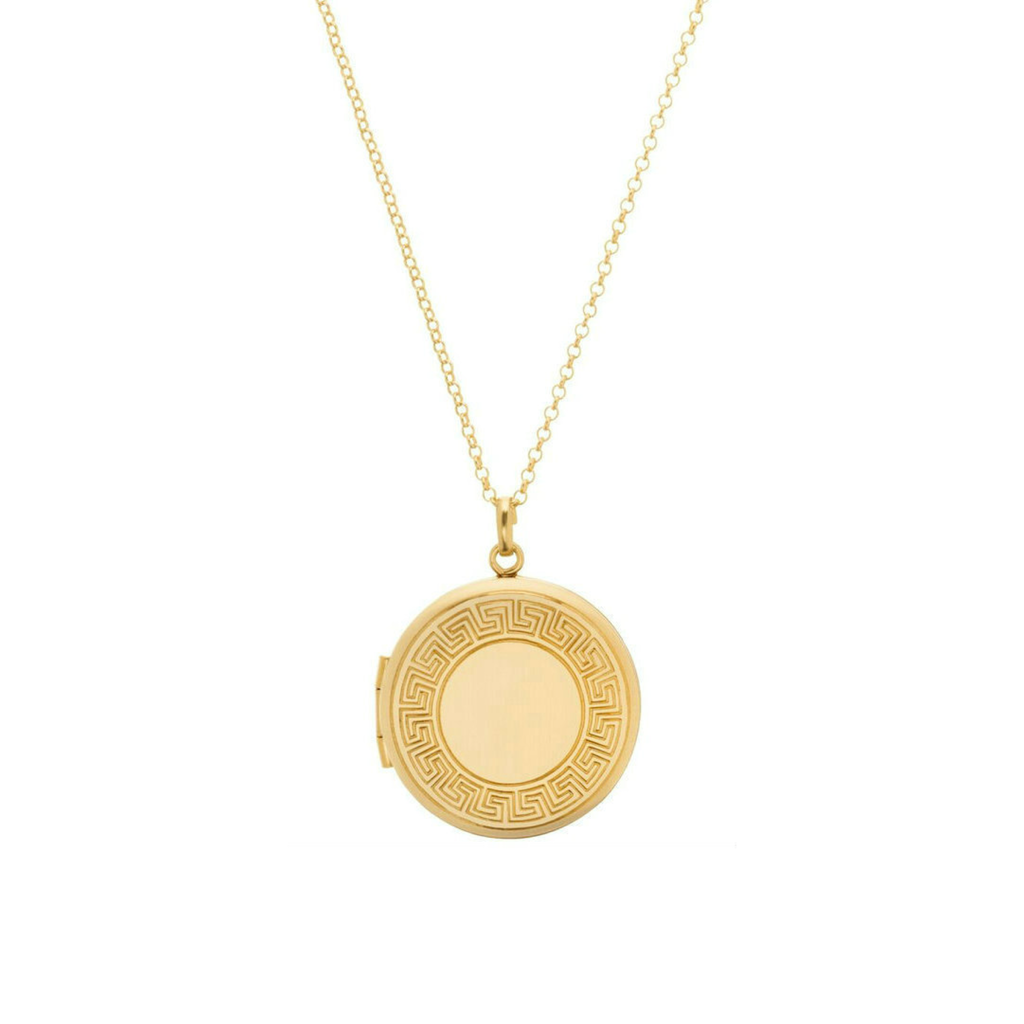 "eNewton Designs, LLC 16"" Necklace Gold - Cherish Small Gold Locket"