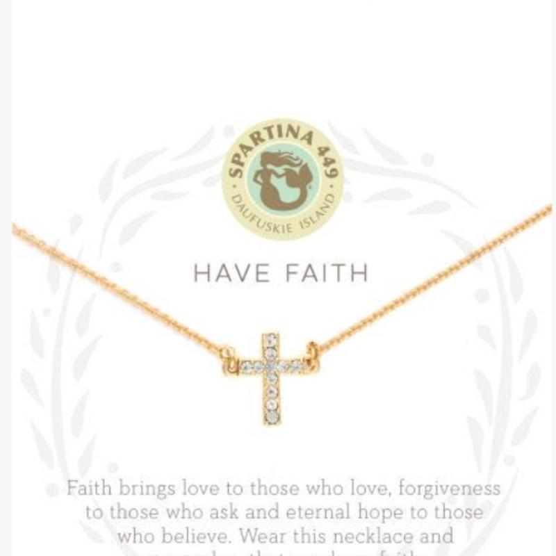 "Spartina 18"" Sea La Vie Have Faith Cross"