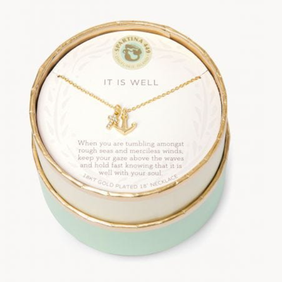 "Spartina 18"" Sea La Vie It Is Well Anchor"