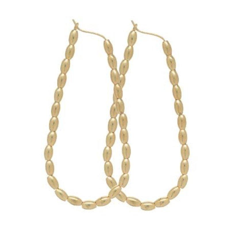 "enewton designs llc 2.25"" Harmony Oval Hoop Harmony Gold Earrings"