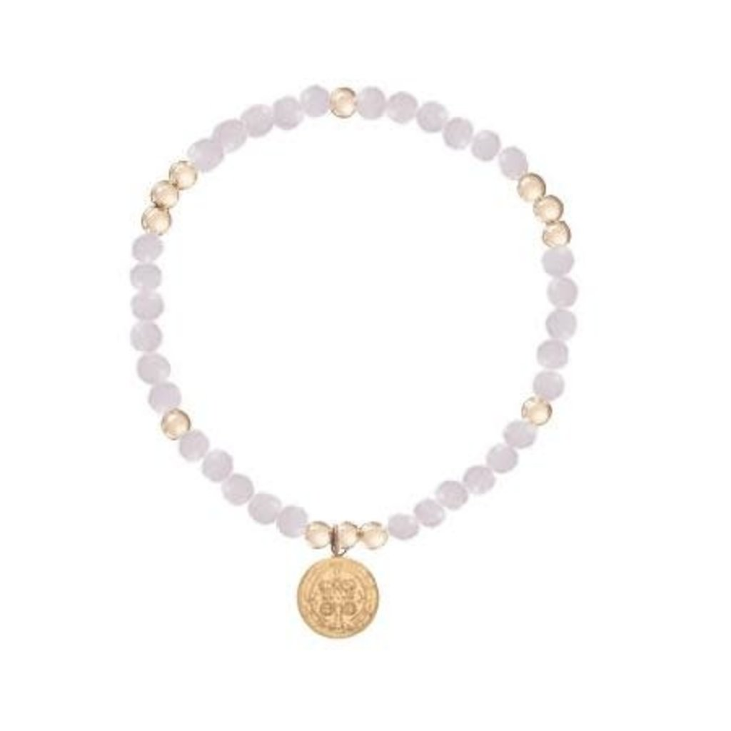 enewton designs llc 4mm Rose Quartz Blessing Bracelet