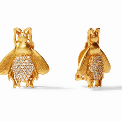 Julie Vos Bee Luxe Clip on Earrings