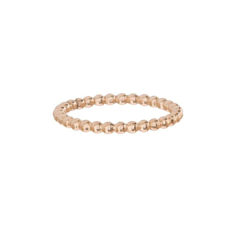 enewton designs llc Classic Gold 2mm Bead Ring Size 8