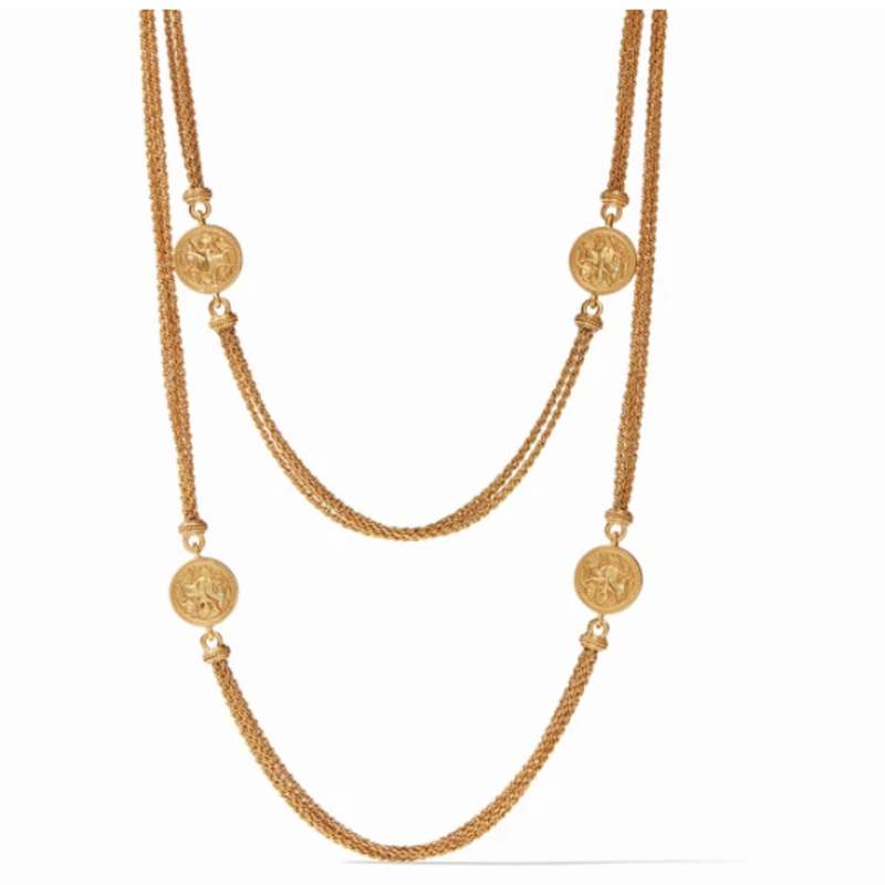 Julie Vos Coin Infinity Necklace