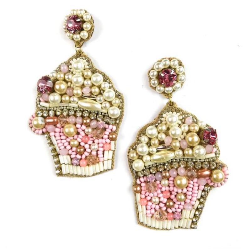 Allie Beads Cupcake Earrings