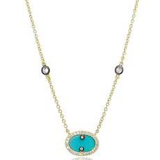 Freida Rothman Hint of Sparkle Pendant Necklace Turquoise