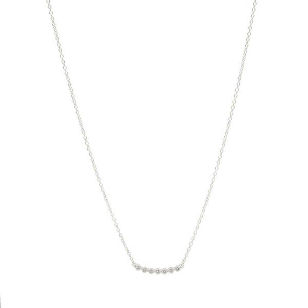 Freida Rothman Horizontal Bezel Pendant Necklace Silver