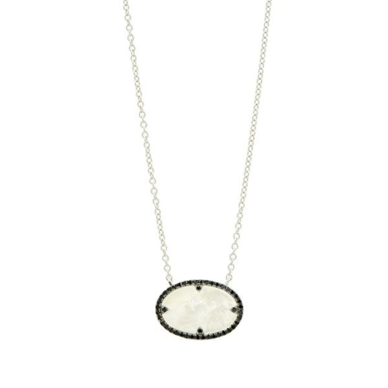 Freida Rothman Industrial Finish Oval Pendant Necklace