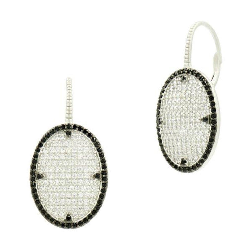 Freida Rothman Industrial Pave Lever Back Earrings