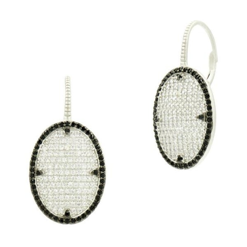 Freida Rothman Industrial Pave Lever Back Earrings