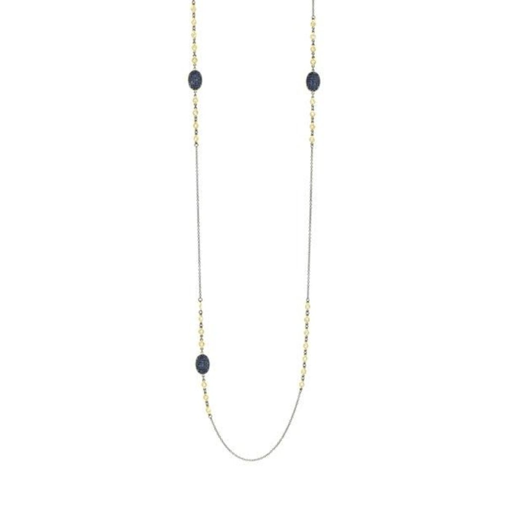 "Freida Rothman Midnight 36"" Station Necklace"