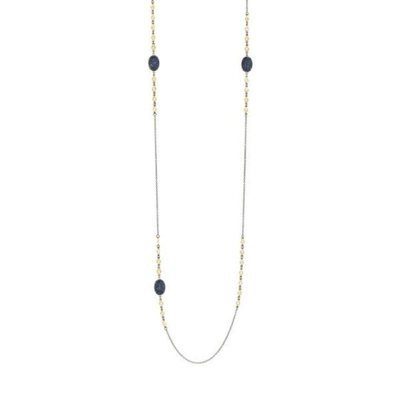 "Freida Rothman Midnight 36"" Station Necklace"