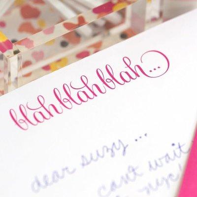 Black Ink Luxe Notepad Blah Blah Blah
