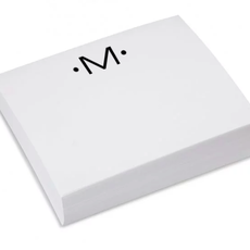 Black Ink Luxe Notepad Gold Initial