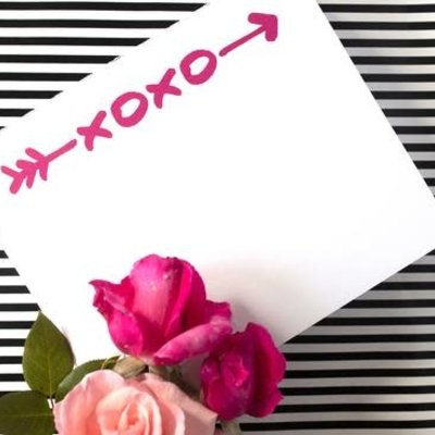Black Ink Luxe Notepad Little XOXO