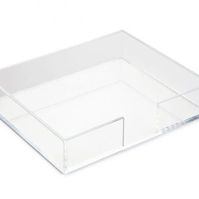 Black Ink Luxe Notepad Lucite Holder