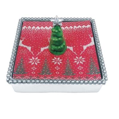Mariposa 3D Green Tree Napkin Box