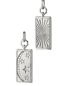 Monica Rich Sun, Moon, and Stars Medallion Charm with Sapphires