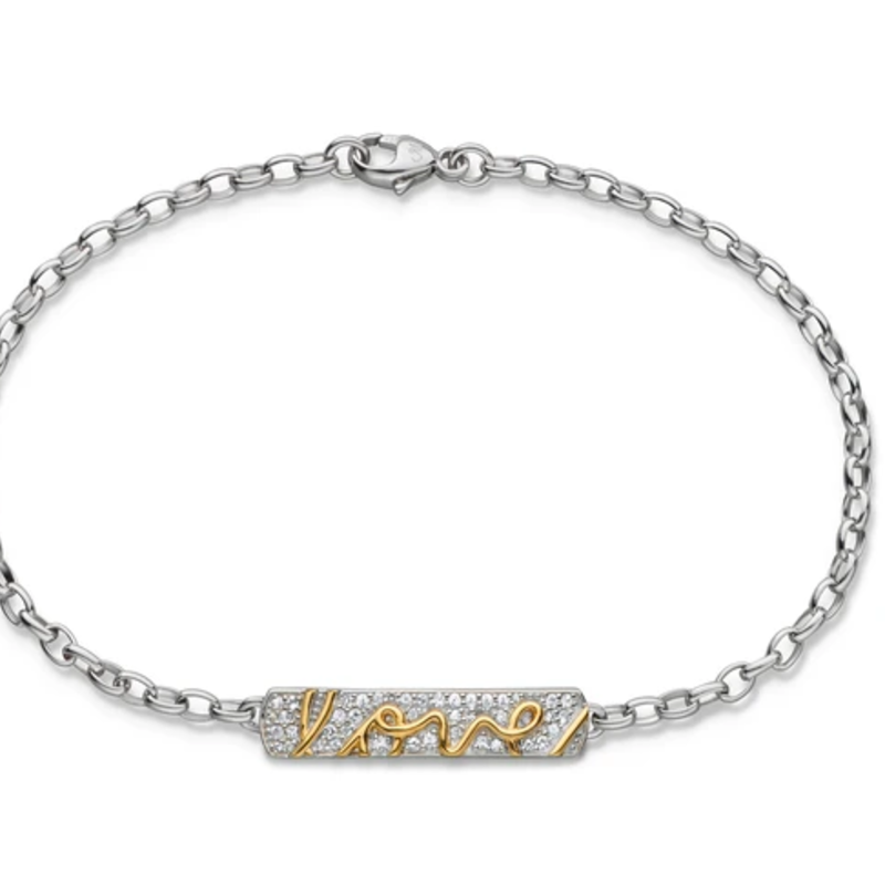 """Monica Rich """"Love"""" Posey Bracelet With Sapphires"""