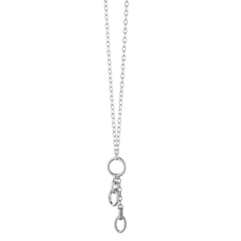Monica Rich Sterling Silver Charm Chain Necklace