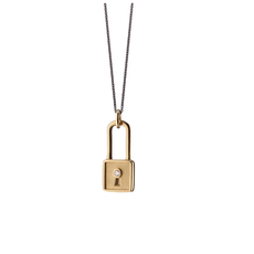 Monica Rich Square Lock Charm Necklace